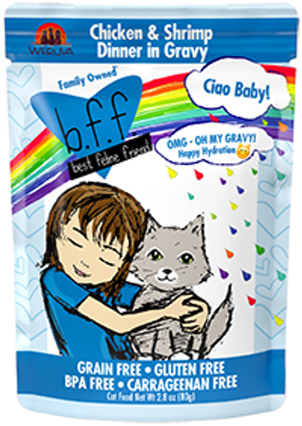 BFF OMG - Ciao Baby Chicken Shrimp Cat Food Pouch, 2.8 oz.