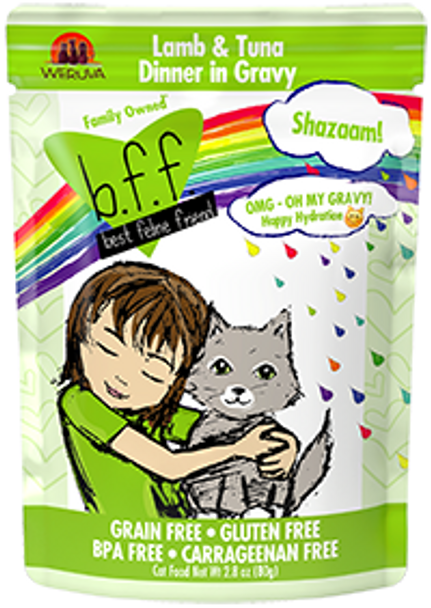BFF OMG - Shazaam Lamb & Tuna Cat Food Pouch, 2.8 oz.
