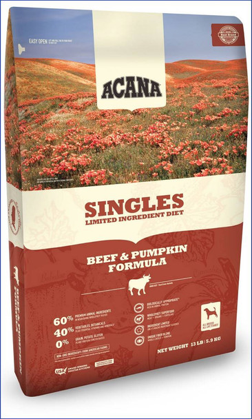 Acana Singles Beef & Pumpkin Dog Food (choose size to view pricing)