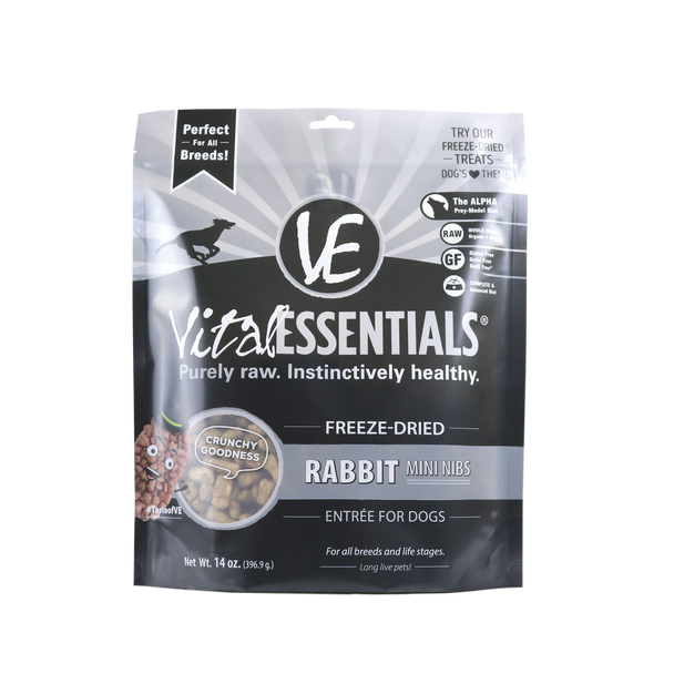 Vital Essentials Freeze Dried Mini Nibs, Rabbit, 14 oz.
