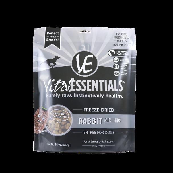 Vital Essentials Freeze Dried Mini Nibs, Rabbit, 14 oz.