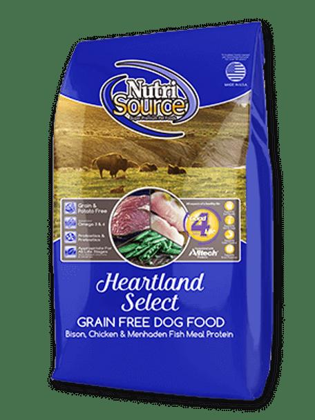 Nutrisource Heartland Bison Dog Food, 30 lb.