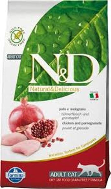 Farmina N&D Grain Free Chicken/Pomegranate Cat, 3.3 lb.