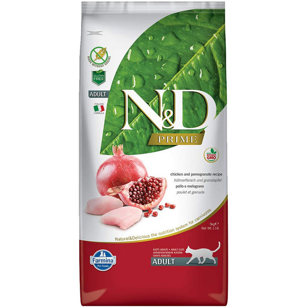 Farmina N&D Grain Free Chicken/Pomegranate Cat, 11 lb.