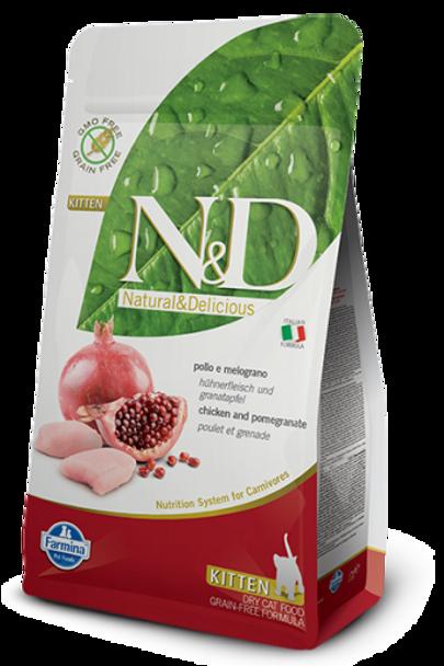 Farmina N&D Grain Free Chicken/Pomegranate Kitten, 3.3 lb.