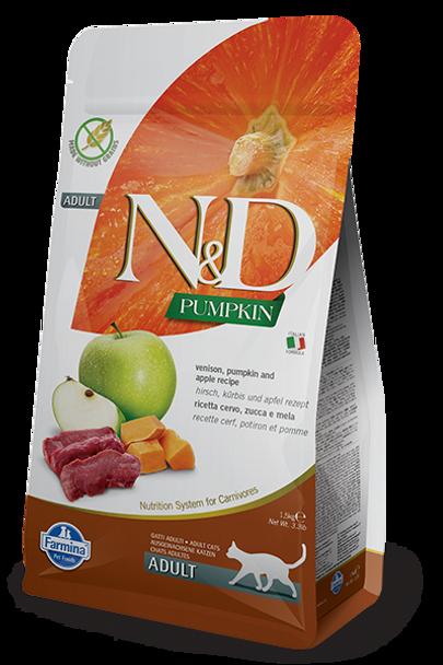 Farmina N&D Grain Free Venison, Pumpkin & Apple Cat, 3.3 lb.