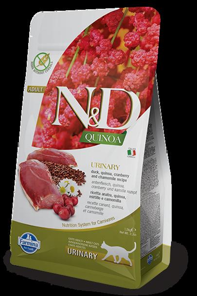 Farmina N&D Quinoa Urinary Duck Cat Food, 3.3 lb.