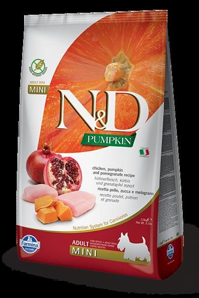 Farmina N&D Chicken Pumpkin & Pomegranate, Mini Size, 5.5 lb.