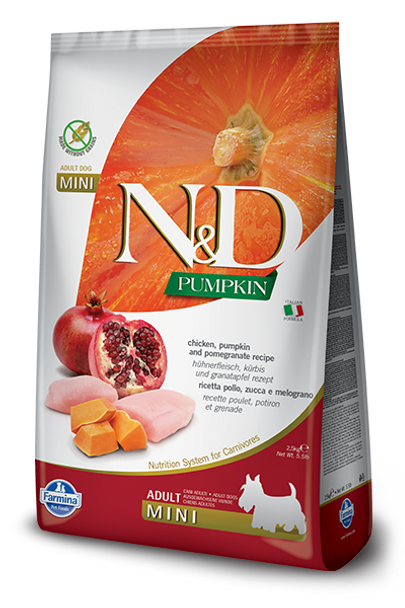 Farmina N&D Chicken Pumpkin & Pomegranate, Mini Size, 15.4 lb.