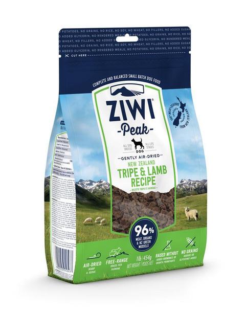 Ziwi Peak Air Dried Dog Food, Tripe and Lamb, 1 lb.
