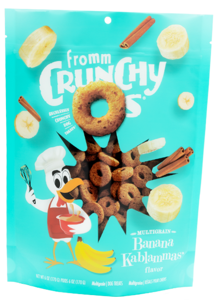 Fromm Crunchy O's Banana Kablammas Dog Treat, 6 oz.