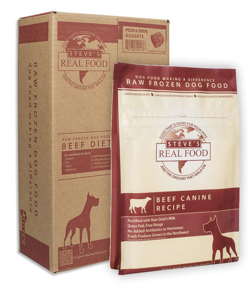 Steve's Frozen Beef Nuggets for Dogs, 5 lbs.