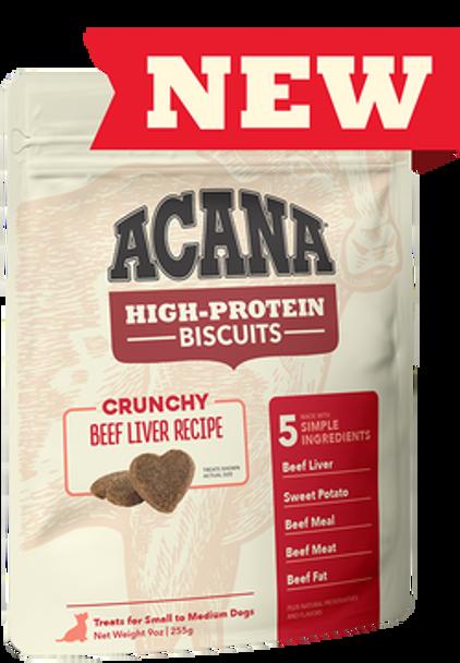 Acana High Protein Crunchy Beef Liver Biscuits, 9 oz.