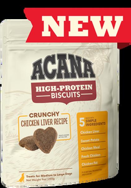 Acana High Protein Crunchy Chicken Liver Biscuits, 9 oz.