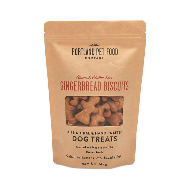 Portland Pet Food GF Gingerbread Dog Biscuits, 5 oz.