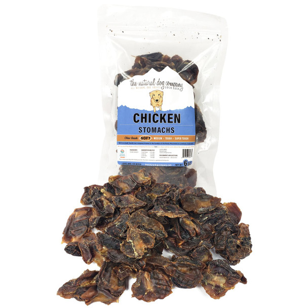 The Natural Dog Company Chicken Stomachs, 6 oz. package
