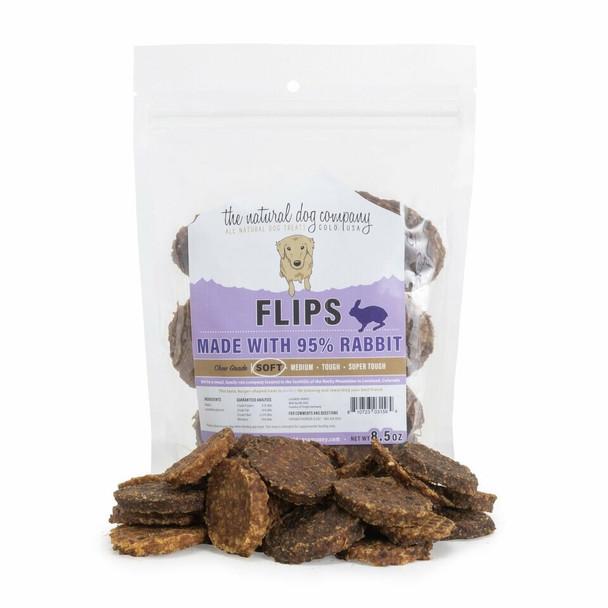 Natural Dog Company Rabbit Flips, 8.5 oz