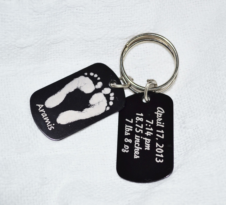 Front and Back View of Same Keychain