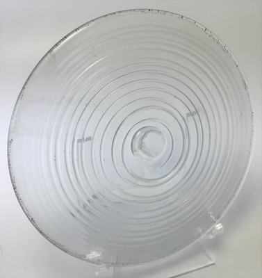 """Blown Rondels - Hot Wrap - 5"""" Clear with Clear Wrap D"""