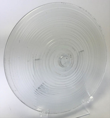 """Blown Rondels - Hot Wrap - 5"""" Clear with Clear Wrap H"""
