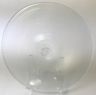 """Blown Rondels - Hot Wrap - 6"""" Clear with Clear Wrap C"""