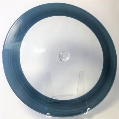 """Blown Rondels - Incalmo - 8"""" 2 Band Clear and Blue"""