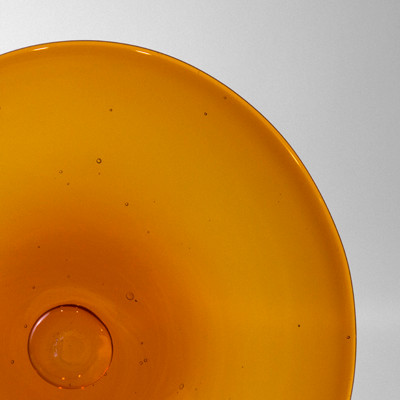Blown Rondels - 18L Light Amber