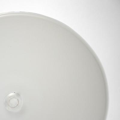 Blown Rondels - Skim Milk White (Semi-Transparent)