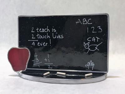 Standing Blackboard with Apple