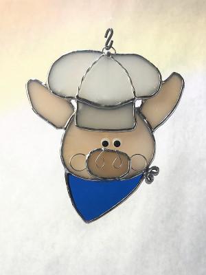 Pig Chef Suncatcher