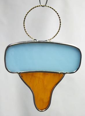Blue baby art glass pacifier suncatcher