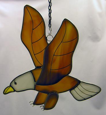 Eagle in Flight art glass suncatcher
