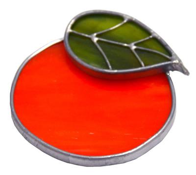 Orange Art Glass Suncatcher
