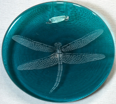 Dragonfly Ornament/Suncatcher in turquoise