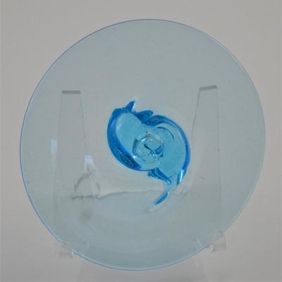 "Blown Rondels - Ripple - 4"" 617 Pale Peacock Blue"
