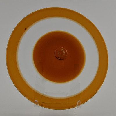 """Blown Rondels - Incalmo - 6"""" 3 Band Amber, Clear, and Amber"""
