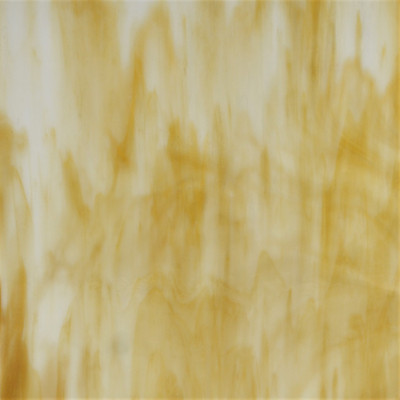 Caramel Creme off batch sheet art glass in amber and white