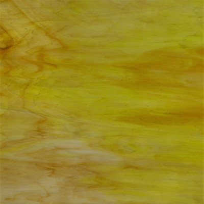 Lakey Motion OB art sheet glass in amber, lime green, and white opal