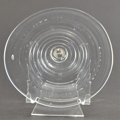 """Blown Rondels - Hot Wrap - 5"""" Clear with Clear Wrap"""