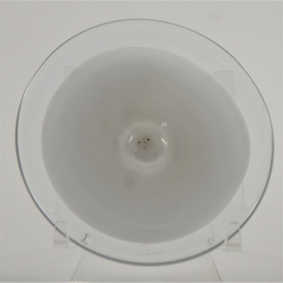"""Blown Rondels - Incalmo - 4"""" 2 Band Clear and White"""