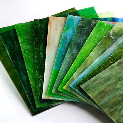 Refreshing Green 8x8 Glass Pack - 6 Pieces