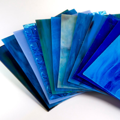 Cool Blue 8x8 Glass Pack - 6 Pieces