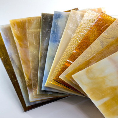 Warm Amber 8x8 Glass Pack - 6 Pieces