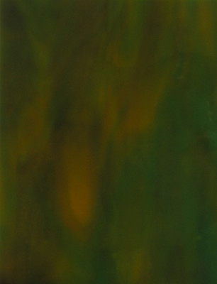 Sheet Glass Sample - 147 (Turquoise Opalume (31AD), Carmel Opalume)