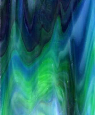 Sheet Glass Sample - 94 (Black Purple, Cobalt Blue (605), Green (661), Opal)