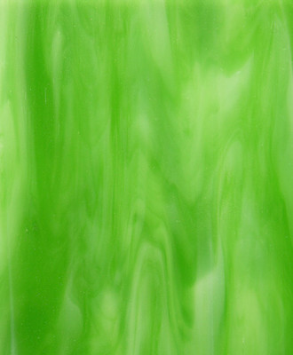 Sheet Glass Sample - 98 (Emerald Green (661), Opal)