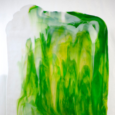 Catspaw Sheet Glass - 99 (Darker Green, Light Amber, Opal) (Smooth Catspaw (SCP) shown)