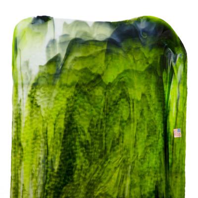 Catspaw Sheet Glass - 163 (Dark & Lime Greens (690), Opal) Granite Catspaw (GCP) Shown