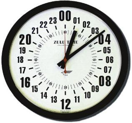"14"" ZuluTime 24-Hour Clock"