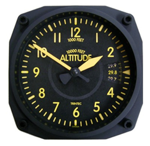"""6"""" Vintage Altimeter Clock"""
